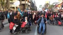 MEHTERAN TAKıMı - Denizli'de 3 Aralık Dünya Engelliler Günü'ne Özel 'Farkındalık Yürüyüşü' Düzenlendi