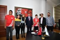 SU SPORLARI - Engelli Sporculardan Başkan Gürkan'a Ziyaret
