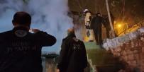 Bursa'da Çöp Dolu Metruk Binada Korkutan Yangın