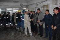 ÇAYıRHAN - Vardiya Değişiminde Madencilere Kutlama