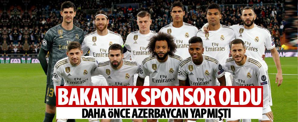 Bakanlık, Real Madrid'e sponsor oldu!