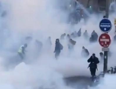 Fransa'da gösteriler şiddete dönüştü!