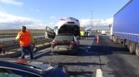 Kazaya Karışan Otomobil, Diğerinin Üzerine Çıktı