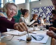 Türk Kahvesi Günü'nde Kahve İle Resim Çizdiler