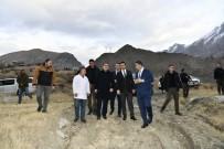 İTFAİYE MÜDÜRÜ - Vali Akbıyık, Yatırımlarla İlgili Arazi İncelemelerinde Bulundu