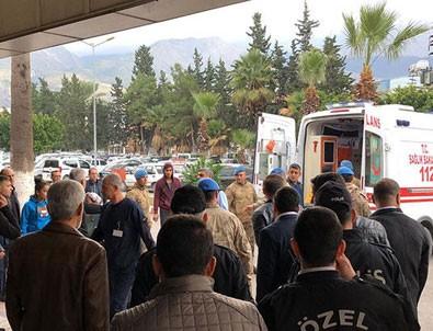 Amanoslar'da EYP patlaması sonucu 2 asker yaralandı
