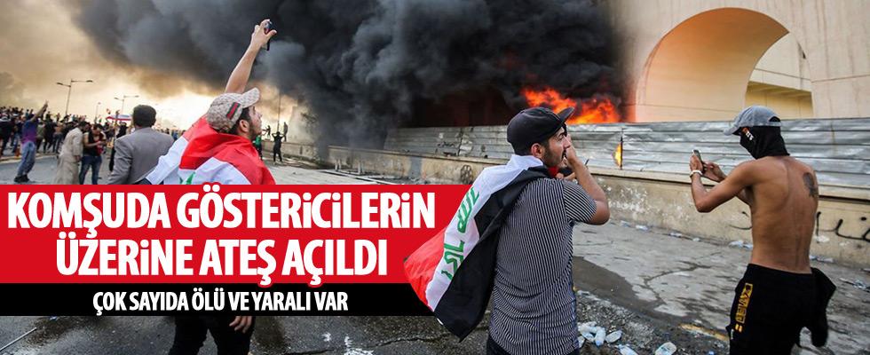 Bağdat'ta göstericilere ateş açıldı!
