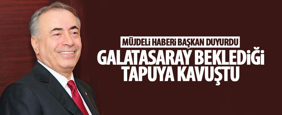Galatasaray, o arazinin tapusunu aldı