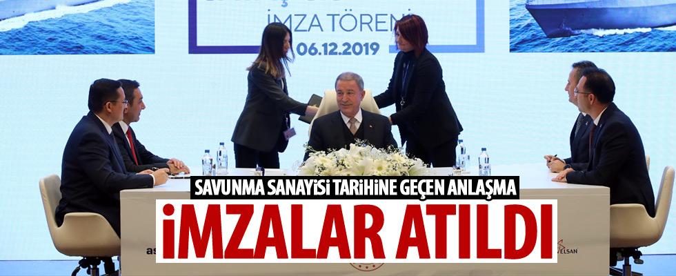 Türk savunma sanayisinin en büyük ihracatı için imzalar atıldı