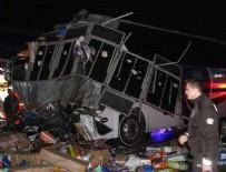 Otobüs TIR'la çarpıştı: Ölü ve yaralılar var