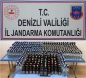 PıNARKENT - Jandarma 484 Şişe Kaçak İçki Ele Geçirdi