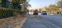ANKARA BÜYÜKŞEHİR BELEDİYESİ - Ankara Büyükşehir Belediyesi Ekipleri Cadde Ve Sokakları Yapraklardan Temizliyor