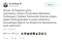 Çekmeköy'de Askeri Helikopter Düştü Açıklaması 4 Asker Yaralı