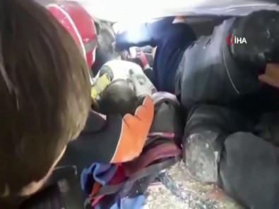 Küçük Tayyip'in kurtarılma anı kamerada