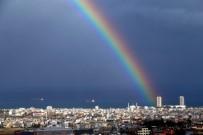 20 DAKİKA - Gökkuşağı, İskenderun'da Kartpostallık Manzaralar Oluşturdu