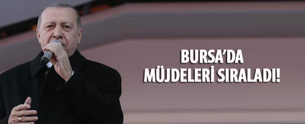 Cumhurbaşkanı Erdoğan'dan müjde üstüne müjde
