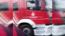 FLORYA - E5 Karayolunda Korkutan Oto Yangını