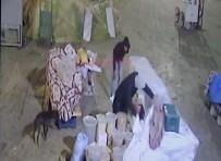 HÜSEYİN ŞAHİN - Pazarda Sebze Meyve Çalan Hırsızlar Kamerada