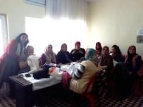 Bahadınlı'da Kadınlar Salon Takımları Dikim Kursuna Katıldı