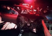 112 ACİL SERVİS - Samsun'da Trafik Kazası Açıklaması 1 Ölü, 4 Yaralı