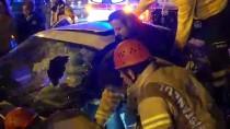 EDIRNEKAPı - Yaralı Sürücüyü İtfaiye Kurtardı