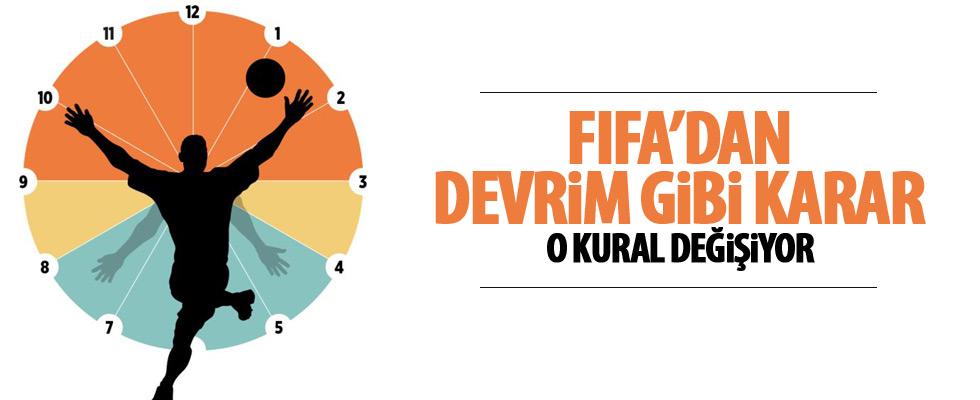 FIFA'dan bir kural değişikliği daha