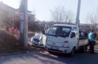 Isparta'da Trafik Kazası Açıklaması 2 Yaralı