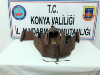 İL JANDARMA KOMUTANLIĞI - Konya'da 'Bereket Tanrısı' Figürlü Koruyucu Muhafaza Kabı Ele Geçirildi