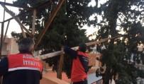 İki Gündür Ağaçta Mahsur Kalan Kediyi İtfaiye Kurtardı