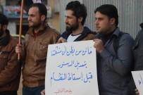 AZEZ - Azez'de, Rejim Bombardımanına Karşıtı Protesto