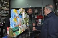 CENGIZ TOPEL - Bakan Akar, Yüksekova'da Esnaf Ziyareti Yaptı