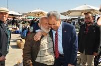 ALıŞVERIŞ - Başkan Akkaya'dan Pazar Esnafına Ziyaret