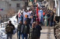 KATO DAĞı - Aşiretlerden PKK Ve HDP Karşıtı Yürüyüş