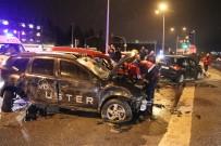 Alkollü Sürücü Trafiği Birbirine Kattı Açıklaması 4 Yaralı