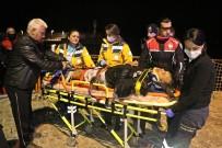 DENİZ POLİSİ - Falezlerden Düşen Şahsı Deniz Polisi Kurtardı