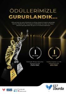 Esas 17 Burda AVM Marcom Awards'dan Ödüllerle Döndü
