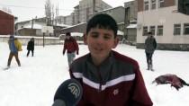 Okullar Tatil Olunca Kara Kışı Eğlenceye Çevirdiler