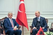 BUDAPEŞTE - Bakan Soylu, Arnavutluk İçişleri Bakanı Lieshaj İle Bir Araya Geldi