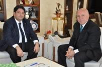 KÜRESEL EKONOMİ - ETB Yönetim Kurulu Başkanı Hakan Oral, Erzurum Büyükşehir Belediye Başkanı Mehmet Sekmen'i Ziyaret Etti