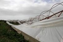 KUMLUOVA - Fethiye Ve Seydikemer'de Fırtına Seraları Uçurdu