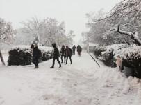 Arguvan'da Kar Yağışı Şiddetini Artırdı