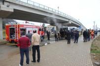 Hareket Halinde Motoru Alev Alan Belediye Otobüsü Korkuttu