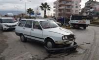 MOBESE - Milas'ta Işık İhlali Yapan Otomobil Kaza Yaptı; 1 Yaralı