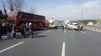 HALK OTOBÜSÜ - İstanbul'da TEM'i Kilitleyen Kaza