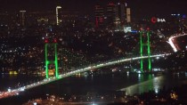 FATIH SULTAN MEHMET KÖPRÜSÜ - Köprüler Bağımlılığa Dikkat Çekmek İçin Yeşil Renge Büründü
