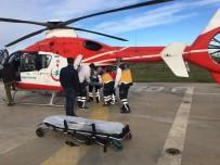 Ambulans Helikopter Yaklaşık 20 Saat Uçarak 13 Hastanın Naklini Gerçekleştirdi