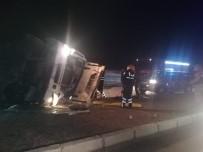 Aşkale'de Trafik Kazası Açıklaması 2 Yaralı