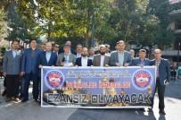 AHMET ÖZDEMIR - Manisa'dan 'İstiklal De İstikbal De Ezansız Olmayacak' Pankartı
