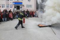 İtfaiye Ekiplerinden Yangın Ve Deprem Tatbikatı