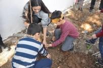 Siirt'te Anaokulu Öğrencileri Dicle Elektrik Bahçesine Fidan Dikti